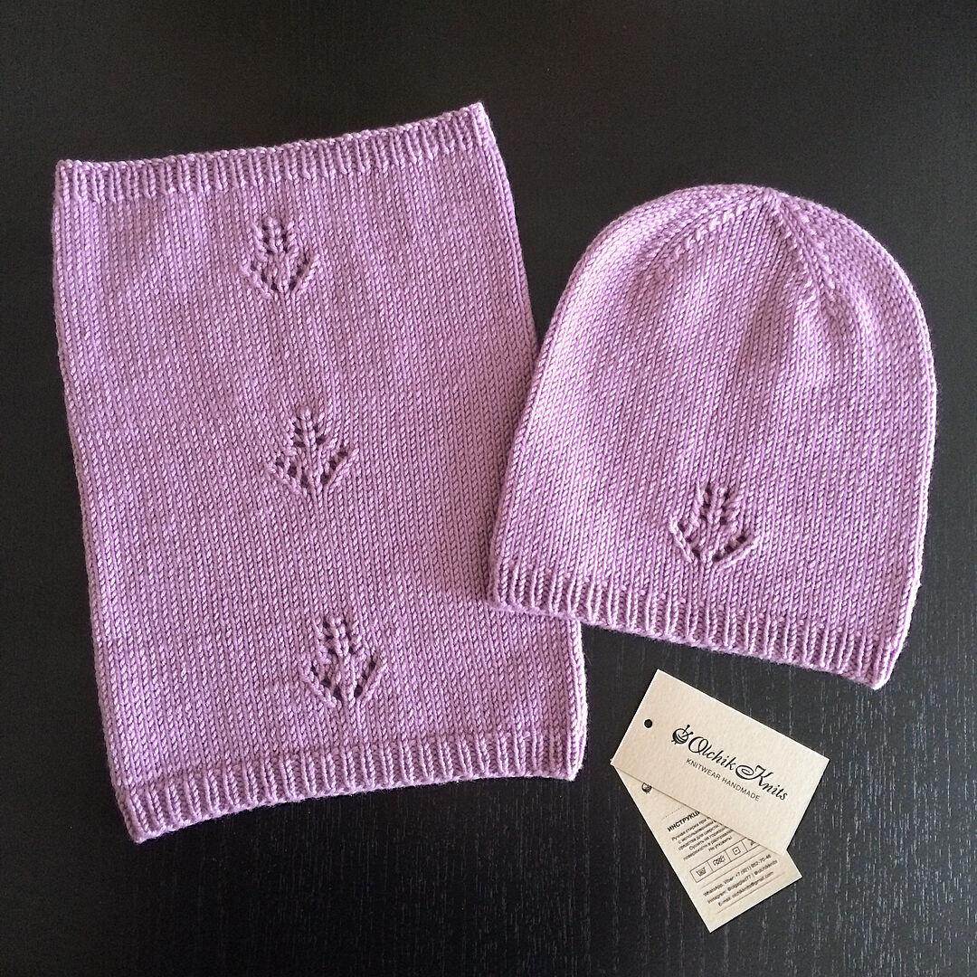 """Связано на заказ: Весенний комплект """"Гиацинт"""" от @olchik.knits"""