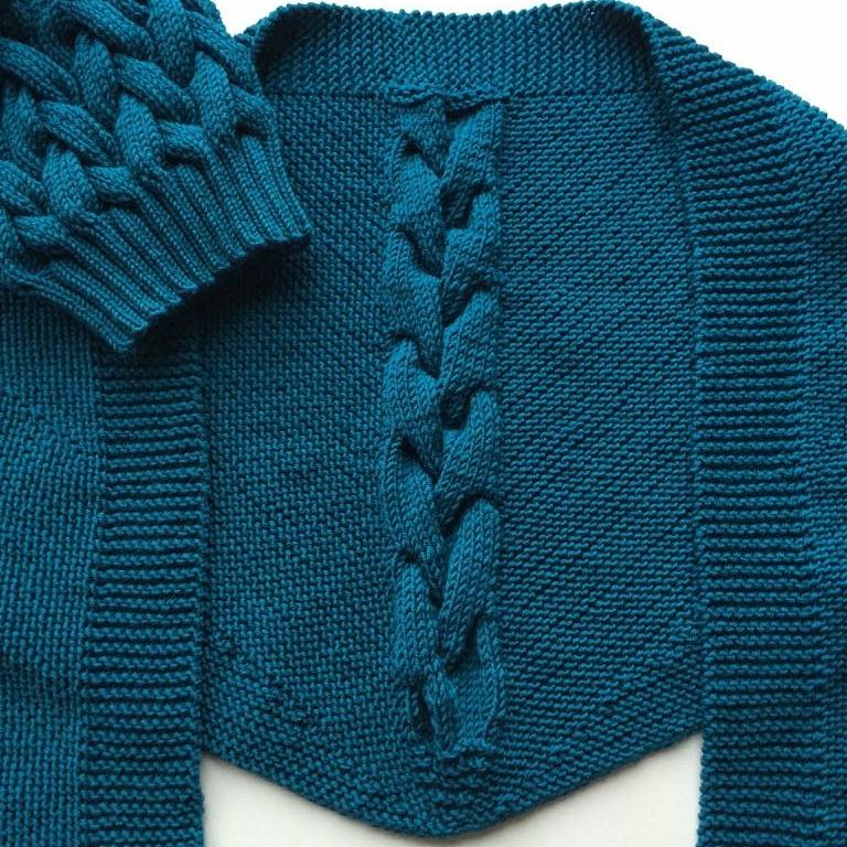 Вязаные аксессуары - шейный платок aka бактус